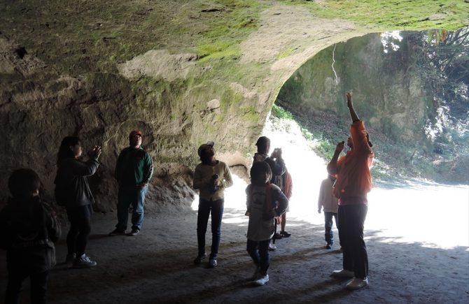 溝ノ口洞穴の入り口です