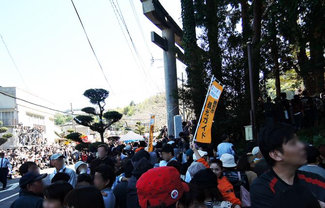 みんなが弥五郎どんの登場を待ちわびています