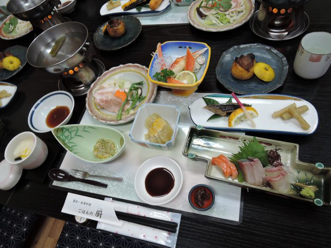 曽於市特産ゆずを使った柚子懐石料理