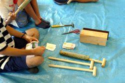 竹の水鉄砲作り